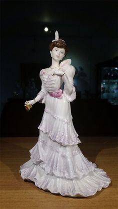 Coalport Golden Age Figurine Eugenie First Night At The Opera c1990 - Artmosphere Antiques Battlesbridge Essex