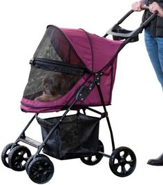 Pet Gear No-Zip Happy Trails Lite Pet Stroller Boysenberry *** See this great image  : Dog strollers