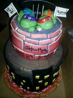 Teenage Mutant Ninja Turtles cake-Flour de Lis custom cakes and treats-Oklahoma paulkandrea@yahoo.com www.facebook.com/flourdelisandrea