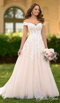 A Line Wedding Dress Sweetheart, Cute Wedding Dress, Dream Wedding Dresses, Bridal Dresses, Blush Lace Wedding Dress, Convertible Wedding Dresses, Detailed Wedding Dresses, Simple Country Wedding Dresses, Different Color Wedding Dresses