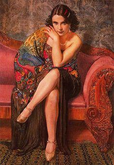 "George Owen Wynne Apperley ""Peacock Shawl"" 1927 by Art & Vintage, via Flickr"