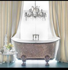 Sparkly bathtub