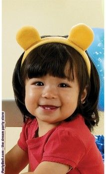 Disney Pooh Ears Plush Headband-I think this will be the only headband hubby approves for our future daughter hehe