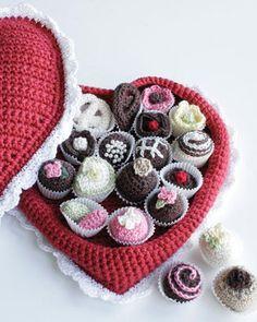 Free Crochet Pattern Box of Chocolates From RedHeart.com