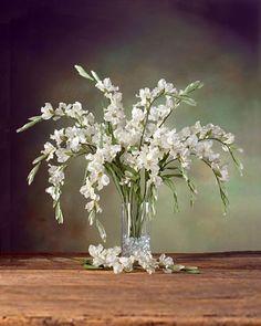 Gladiolus Silk Flower Stem - White