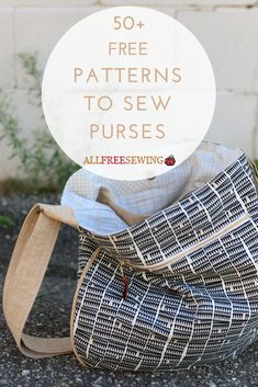 These free purse sewing patterns are so pretty that you won't miss the designer label.