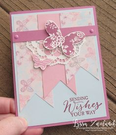 Triple Pennant Layout a snap with Cheat Sheets Collection - SU - Stampin' Up! -  Butterfly Basics and the gorgeous Falling in Love papers