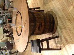 Jack Daniels authentic whiskey barrel bar.