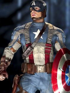 Chris Evans as Captain America--a hero whose strength goes deeper than this costume, muscles and shield. Description from writerlyway.wordpress.com. I searched for this on bing.com/images