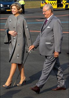 King Willem-Alexander and Queen Maxima State visits Denmark- Welcoming ceremony at the airport 3/16/2015