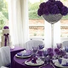 Yes ... Purple and silver wedding ...