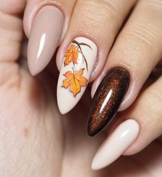 30 Trendy Manicure Ideas In Fall Nail Colors 2019 Inspired - The most beautiful nail designs Elegant Nail Designs, Fall Nail Art Designs, Elegant Nails, Acrylic Nail Designs, Stylish Nails, Nails Design Autumn, Trendy Nails 2019, Latest Nail Designs, Ongles Gel Halloween