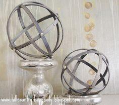 DIY West Elm Knock off spheres