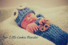 NEW+Newborn+cookie+monster+themed+cocoon+set+by+Adoruhbulcreations,+$28.00
