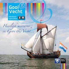Heerlijk meevaren in Gooi & Vecht 2015  Kom en geniet van de prachtige regio Gooi&Vecht vanaf het water. Kijk hier voor de mogelijkheden om (individueel) mee te varen met een rondvaartboot, het Statenjacht, een fietsboot etc.etc. Laat u verrassen!