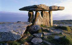 na Brone Dolmen, County Clare. IrelandPoul na Brone Dolmen, County Clare. Dark Hedges, Places Around The World, Around The Worlds, County Clare, Emerald Isle, Ireland Travel, Ireland Vacation, Land Art, British Isles