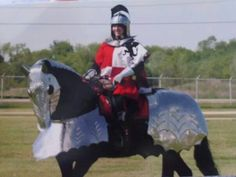 Angie Russell in armour. Picture by Darlene.