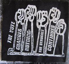 Anarchist activist patch punk DIY Revolution Anarchy by massmedia, $2.00