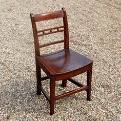 Antique chair 19th century oak dining chair