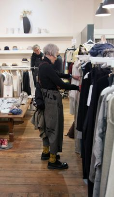 Fabulous fashionista, Jean Woods spotted in Blue wearing Rundholz printed trousers from AW15.