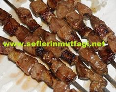 How to make liver skewers-Liver dressing, offal recipes… - Dinner Recipe Grilling Recipes, Fish Recipes, Meat Recipes, Turkish Recipes, Italian Recipes, Breakfast Recipes, Dinner Recipes, Kebabs On The Grill, Turkish Kitchen