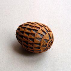 Small Rustic Egg, Ceramic Egg Ornament, Farmhouse Decor