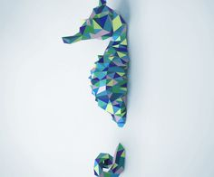 Seahorse Papercraft DIY Project
