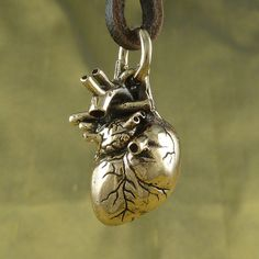 Anatomical Heart Necklace  Bronze Anatomic Heart by LostApostle, $40.00