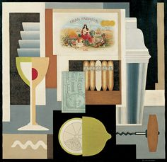 Gerald Murphy, Cocktail, 1927. Oil on canvas. Whitney Museum of American Art, New York.