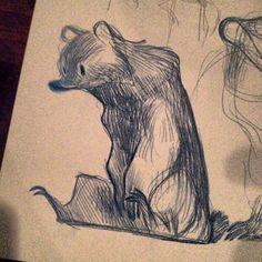 Really nice expressive pencil line. nataliehall: A bur. (at Golden Road Brewing)