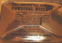 Survival biscuits -- you're lucky to be alive so just eat it