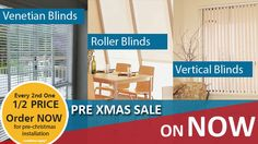 Pre Xmas Sale! Every second one is half price!  Offer available until November 20, 2017.  Visit our showroom or call 132 899 and have a free in-home consultation with one of Apollo's design consultants.  Book a FREE measure & quote now: Visit http://apolloblinds.com.au/specials/