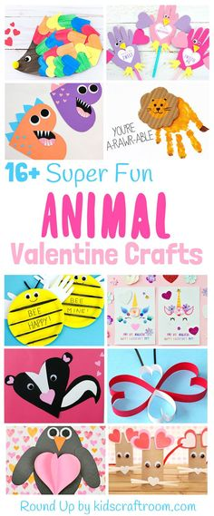 Animal valentine crafts for kids