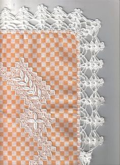 Discover thousands of images about Chicken scratch, Broderie suisse. Hardanger Embroidery, Silk Ribbon Embroidery, Embroidery Stitches, Embroidery Patterns, Hand Embroidery, Crochet Dollies, Crochet Lace Edging, Crochet Borders, Crochet Edgings