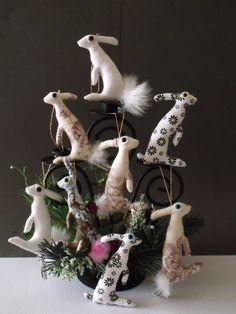 Hare decorations.