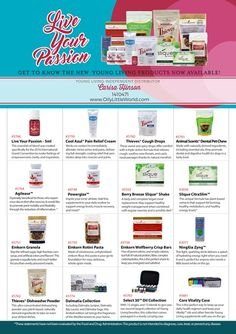 New Young Living Product Tour!  See more about each of the new products released recently!