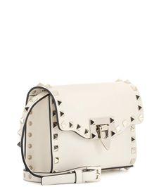 Valentino Garavani The Rockstud Leather Shoulder Bag - Beige Valentino vP5BVxm