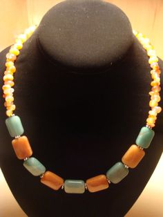 Aventurine / Carnelian Necklace by laiziboicollection on Etsy, $12.00