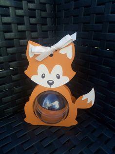 Boite à dragées thème baby renard  + boule plexi