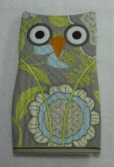 Owl Oven Mitt Pot Holder Perfect size for Adults Ready to Ship. $18.00, via Etsy.