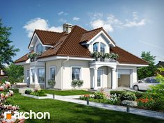 Dom w tymianku 6 Beautiful House Plans, Dream House Plans, Beautiful Homes, Philippines House Design, Philippine Houses, House Outside Design, House Property, Bungalow House Design, Cute House