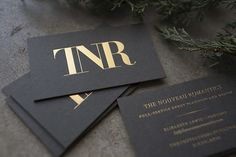 New Year, New Look for The Nouveau Romantics // logo and design by @Chelsea Rose Rose Rose / Go Forth Creative, printing by #studioonfire