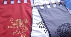 Game of thrones banner flag curtain house Lannister home by Oki007