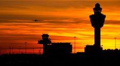 Sunset at Schiphol