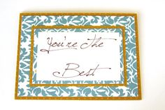 You're The Best Handmade Card Thank You Card by Summertimedesign, $4.00