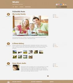 Minbl Responsive WordPress Minimal Tumblr Theme
