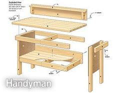 Classic #DIY Workbench #Plans - Get the tutorial: http://www.familyhandyman.com/workshop/workbench/classic-diy-workbench-plans/view-all