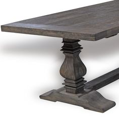 Vintage Grey Oak Trestle Dining Table, salvage waxed