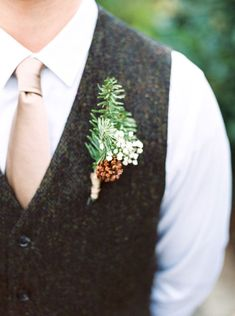 Anna and Awad's $3,000 DIY Dallas Arboretum Wedding. Photography by Callie Manion. See more here.................. @intimateweddings.com #boutonniere #budgetweddings
