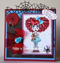 E Creations: Simply Betty Stamps 13 Days of Halloween Day 8 - E...